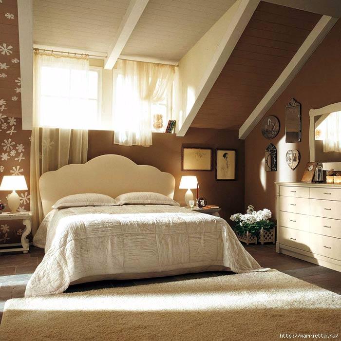 Интерьер спальни в мансарде (10) (700x700, 246Kb)