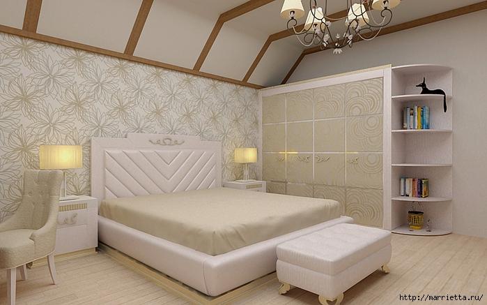 Интерьер спальни в мансарде (14) (700x437, 248Kb)