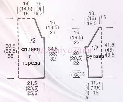 pulover_109_shema (408x340, 70Kb)