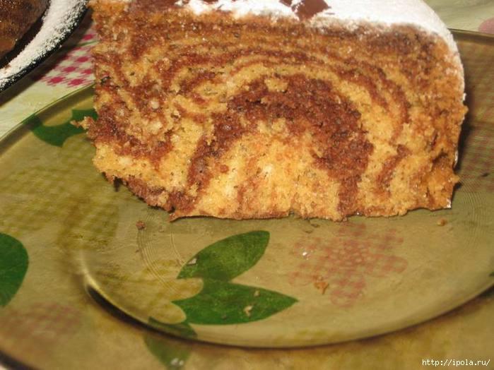 Рецепт пирог зебра на майонезе