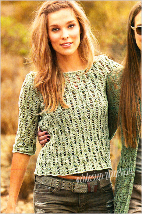 olivkovyj-azhurnyj-pulover-spitsami-s-opisaniem-foto (466x700, 569Kb)