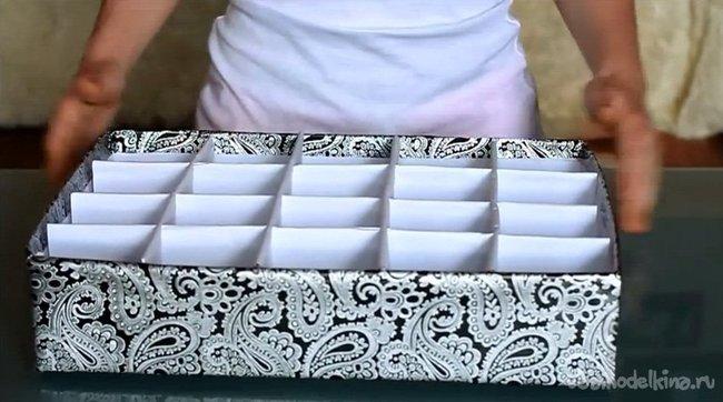 Как сделать коробочку для трусов своими руками