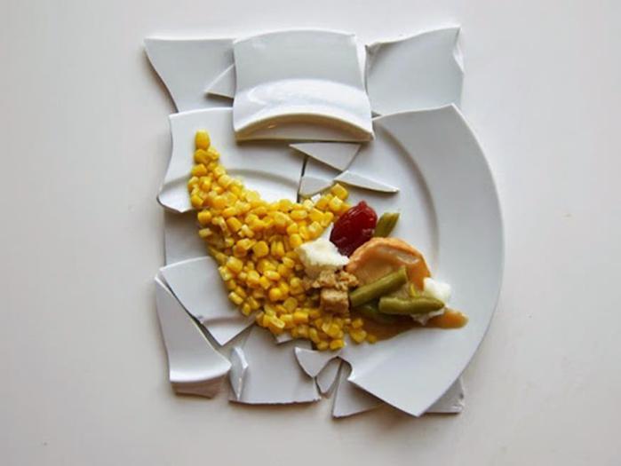 Как выглядят тарелки известных художников на День благодарения