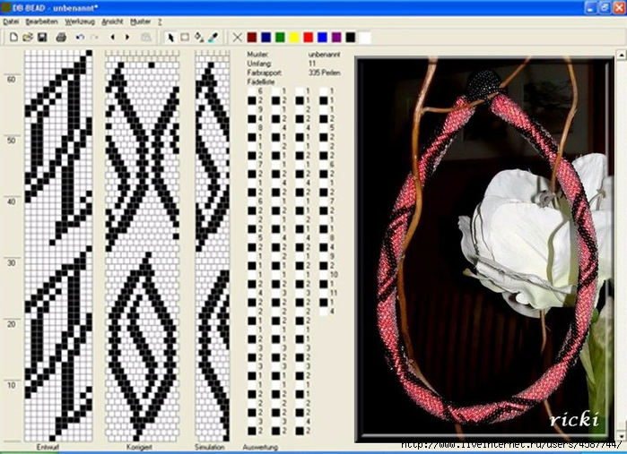 Схемы бисерных жгутов на 14 бисерин