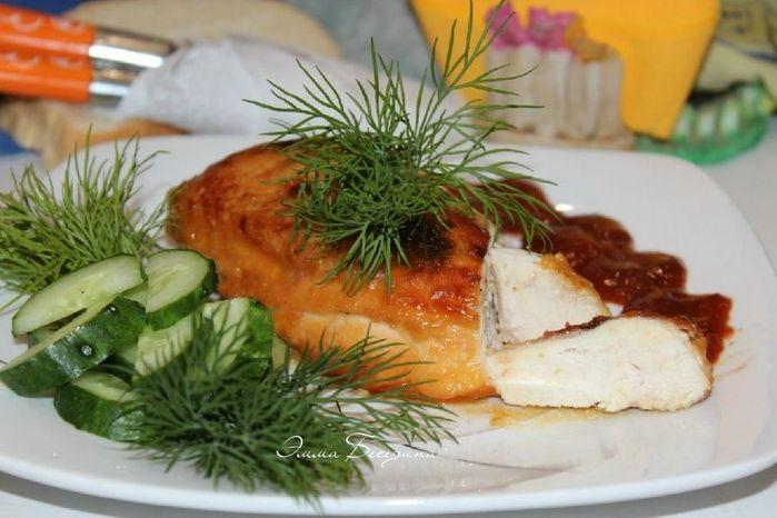 Zapechennaya kurinaya grudka v gorchichno-medovom marinade 1 (700x466, 54Kb)