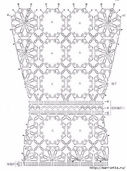 Летние шарфики крючком (6) (428x575, 182Kb)