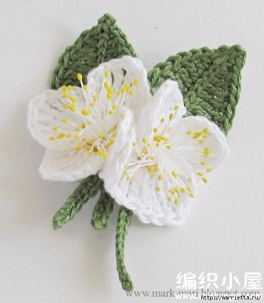 Цветы крючком. Схемы (5) (526x604, 133Kb)