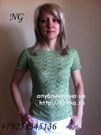 женские вязаные летние свитера