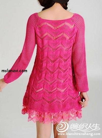 вязаное-платье-спицами-схема (400x543, 232Kb)