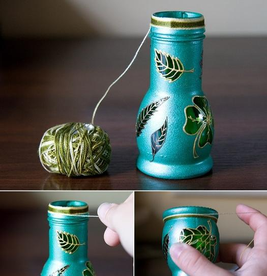 Как сделать стеклянную вазу из стеклянной банки