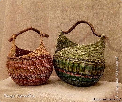 Плетение корзинки с ушками. Маленький мастер-класс (3) (520x432, 181Kb)