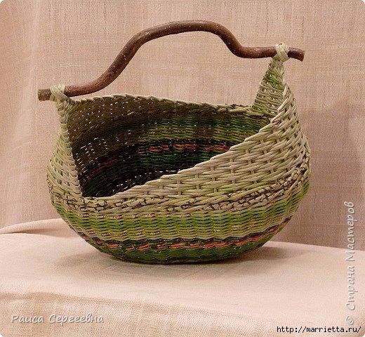 Плетение корзинки с ушками. Маленький мастер-класс (5) (520x480, 201Kb)