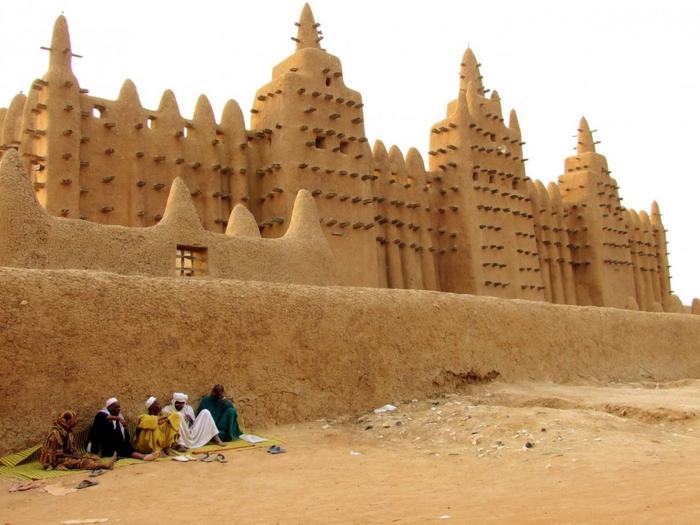Дженненская соборная мечеть, Мали (700x525, 340Kb)
