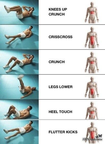 пресс картинки упражнения