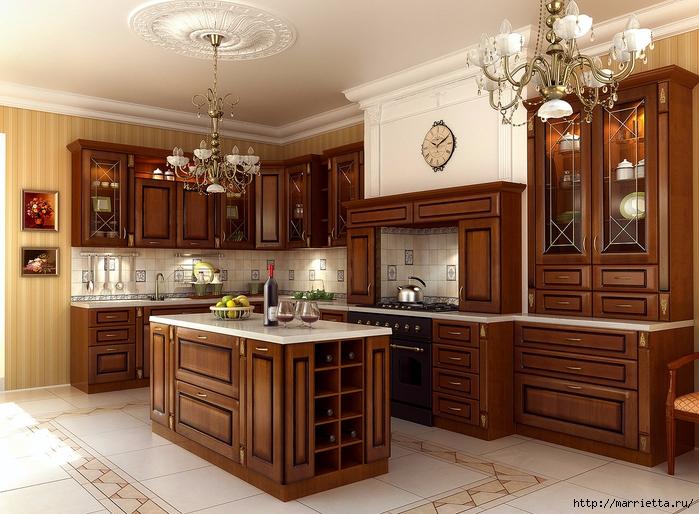 Кухня в классическом стиле (1) (700x514, 318Kb)