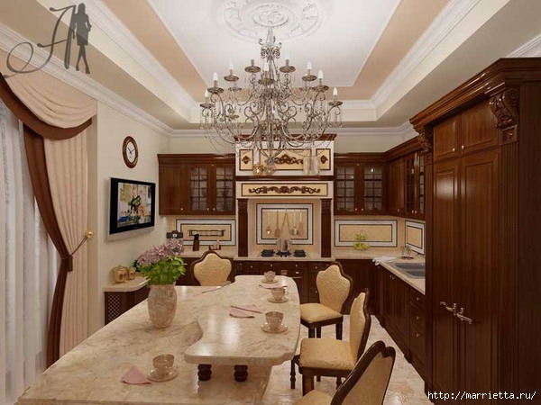 Кухня в классическом стиле (6) (600x450, 173Kb)