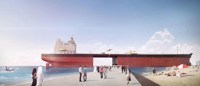зона отдыха из стаорого танкера Black Gold Project 2 (700x300, 203Kb)