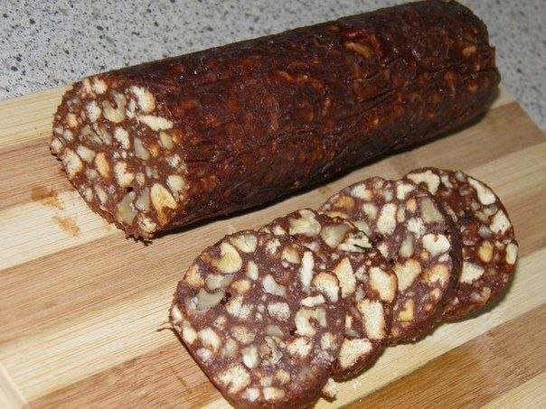 Шоколадная колбаска (604x453, 82Kb)