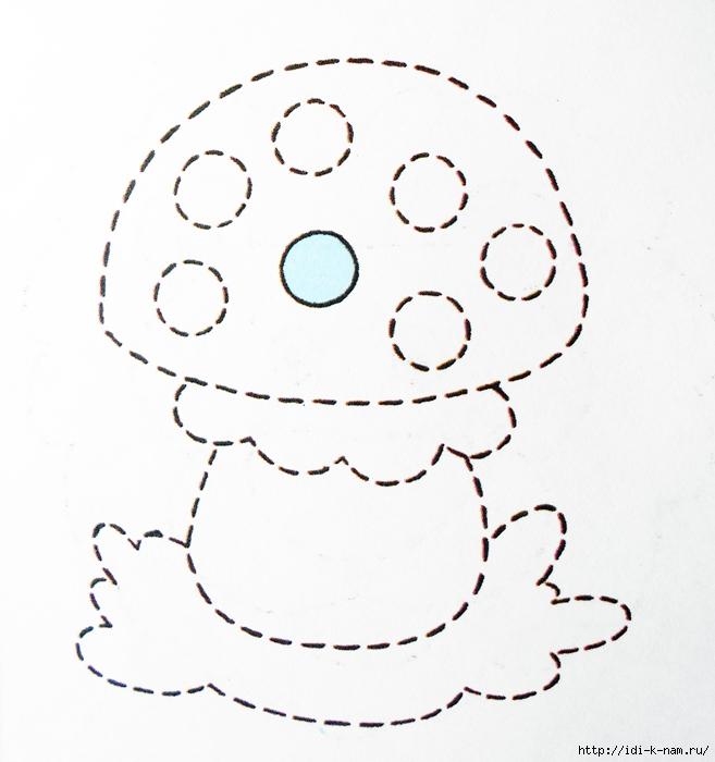 Раскраска для детей пунктир