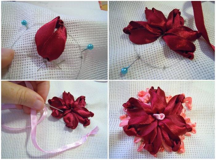 Вышивка атласными лентами не цветы 682