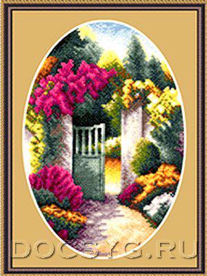 схема вышивки Садовая калитка (300x400, 163Kb)