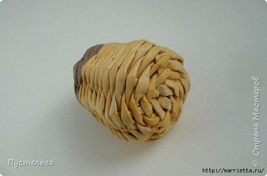 Плетение из газетных трубочек. Птичка СИНИЧКА (12) (520x342, 62Kb)