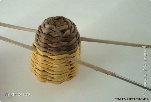 Плетение из газетных трубочек. Птичка СИНИЧКА (14) (520x351, 69Kb)