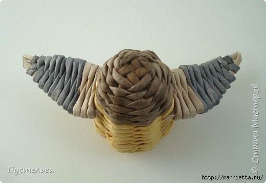 Плетение из газетных трубочек. Птичка СИНИЧКА (18) (520x357, 74Kb)
