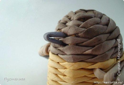 Плетение из газетных трубочек. Птичка СИНИЧКА (22) (520x356, 77Kb)
