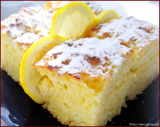Рецепт лимонного пирожного (655x521, 206Kb)