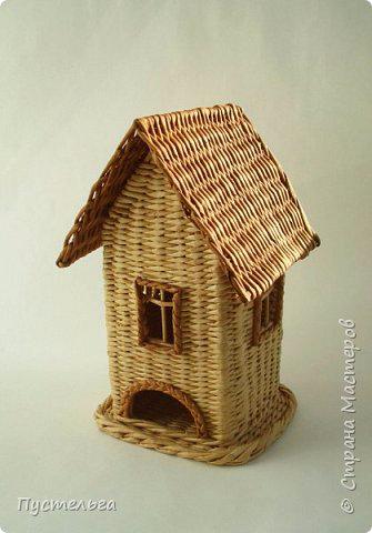 Плетение чайного домика из газетных трубочек (335x480, 125Kb)