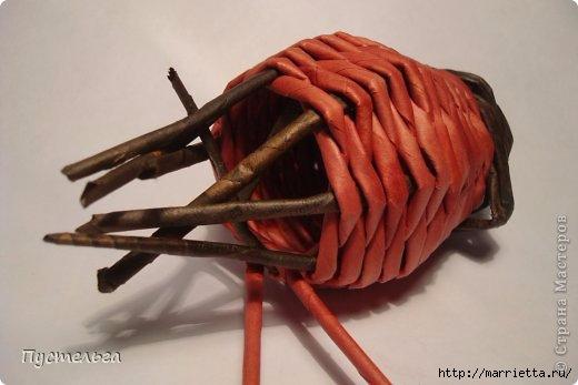Плетение СНЕГИРЯ из газетных трубочек (4) (520x347, 83Kb)