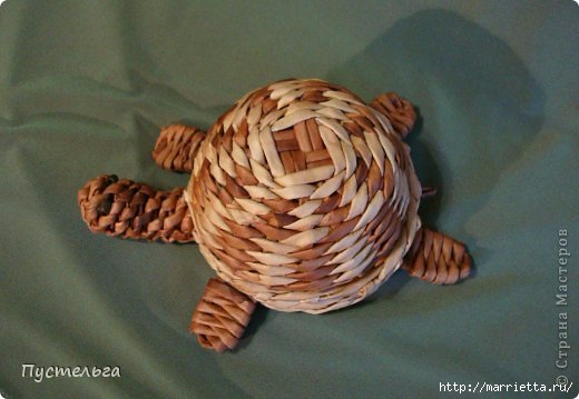 Плетение ЧЕРЕПАШКИ из газетных трубочек (1) (520x359, 105Kb)