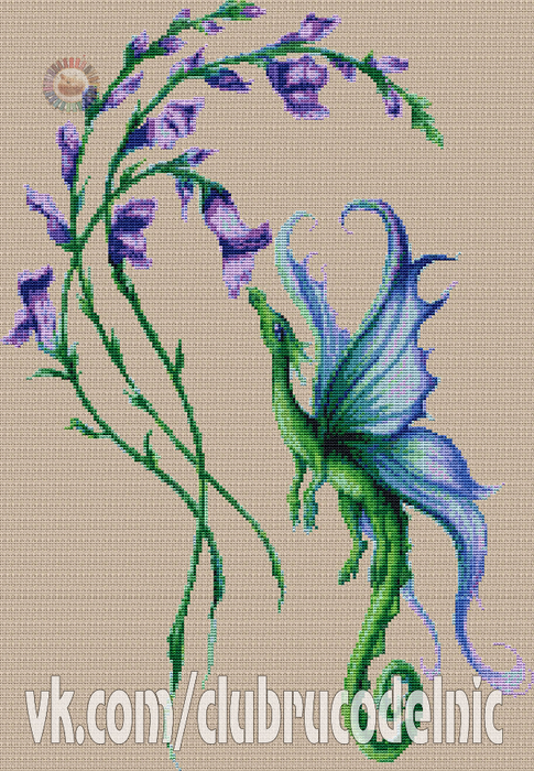 Цветочный дракончик (485x700, 541Kb)