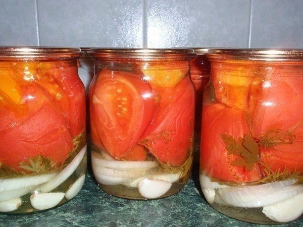 Рецепт салата на зиму из помидор и лука на зиму рецепты с