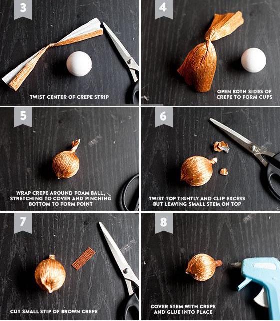 Как сделать желудь из бумаги