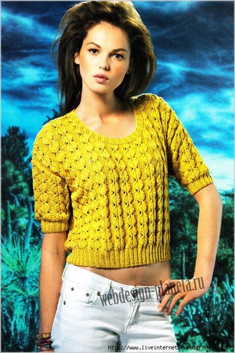 korotkij-pulover-spitsami-s-fantajnymi-kosami-foto (466x700, 294Kb)
