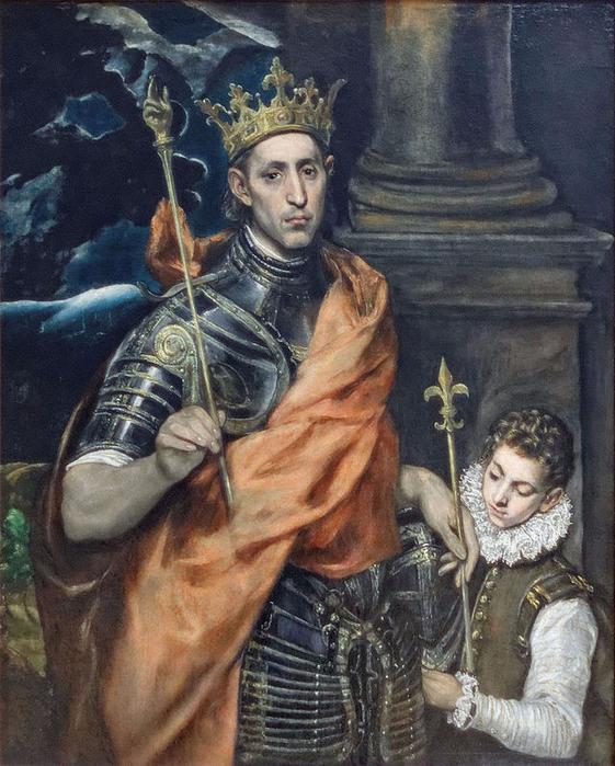 El_Greco_-_Saint_Louis_roi_de_France_et_un_page_02 (561x700, 466Kb)