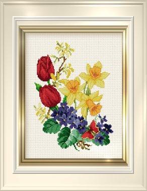 _028 Spring Flowers (292x378, 98Kb)