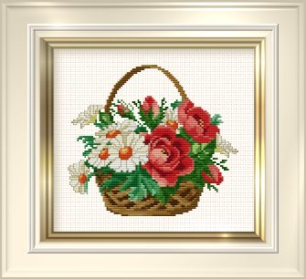 _030 Daisy Basket (335x306, 99Kb)