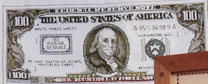 Вышивка крестом, схемы Деньги