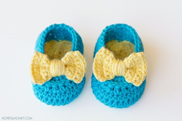 Lemon Drop Baby Booties Crochet Pattern 5 (700x466, 62Kb)