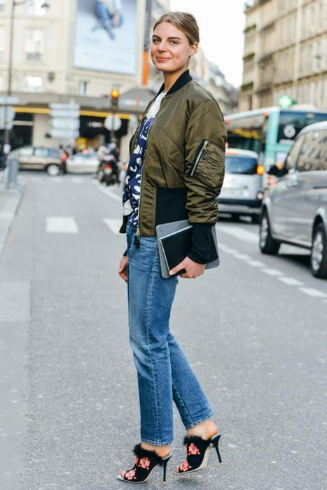 Уличная мода   одежда цвета хаки