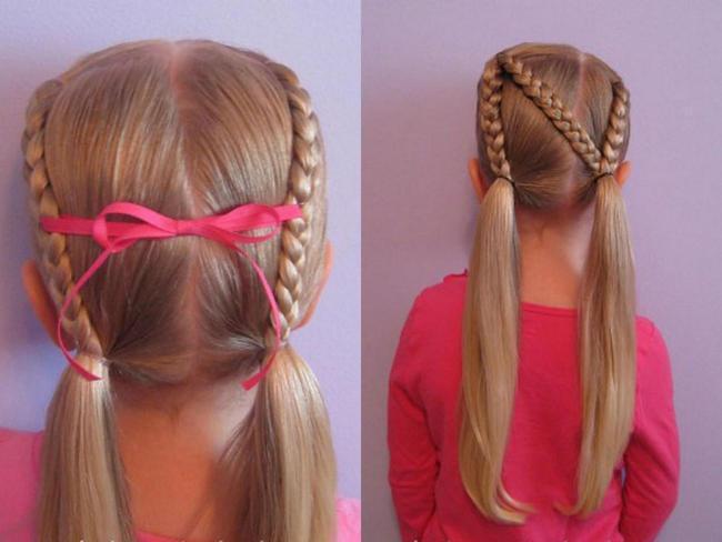 Школьные причёски на длинные волосы. Фото №3