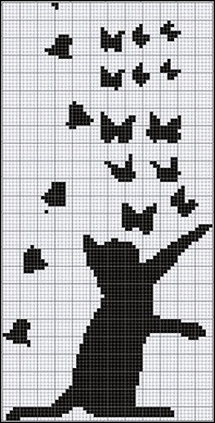 Схемы для вязания котиков.