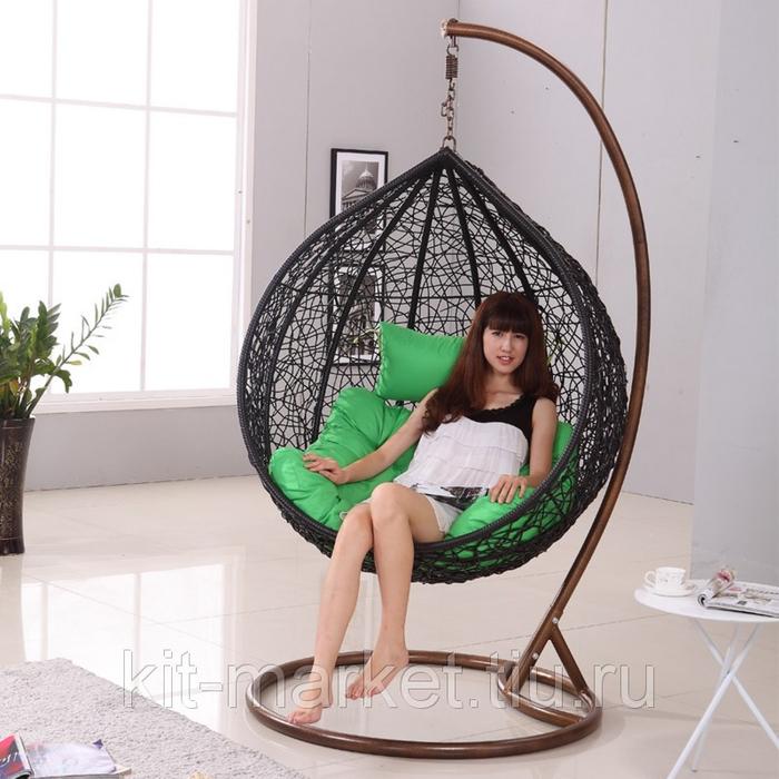 Подвесная кресло-корзина своими руками