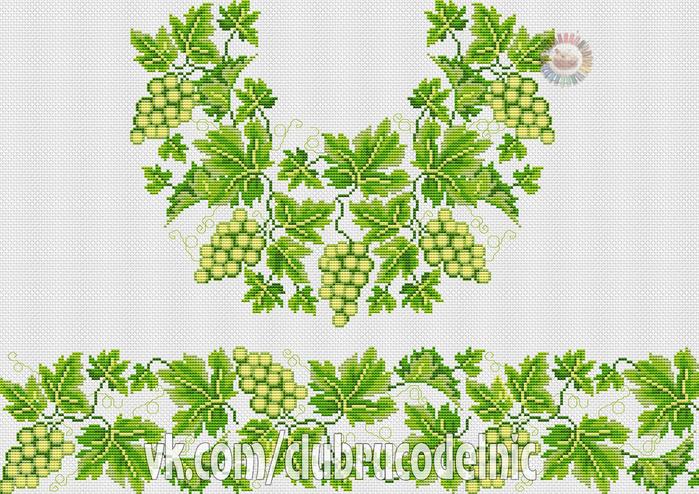 Cорочка жіноча Білий виноград (700x494, 517Kb)