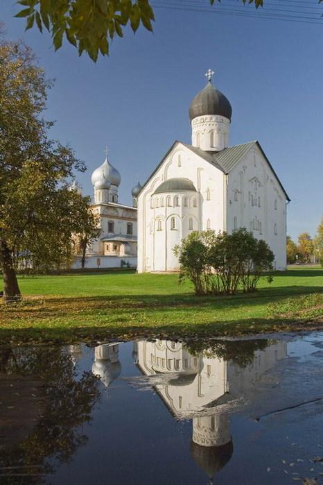 храм Преображения Господня на Ильине улице в Новгороде, 1378 г. (466x700, 90Kb)