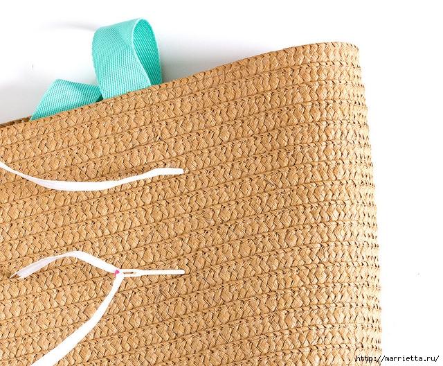 Вышивка на соломенной пляжной сумке (9) (640x528, 368Kb)