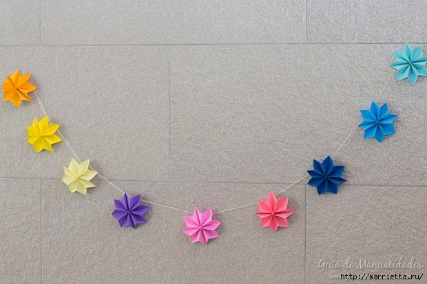 Цветная гирлянда из бумажных звезд (1) (620x413, 166Kb)
